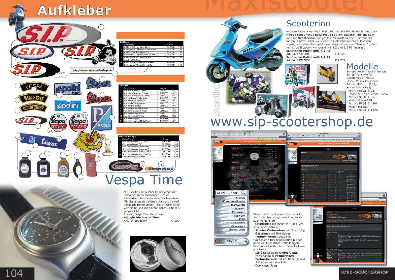 Sip Maxiscooter Katalog 2002