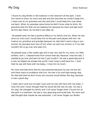 Short Story by Dillon Robinson - issuu