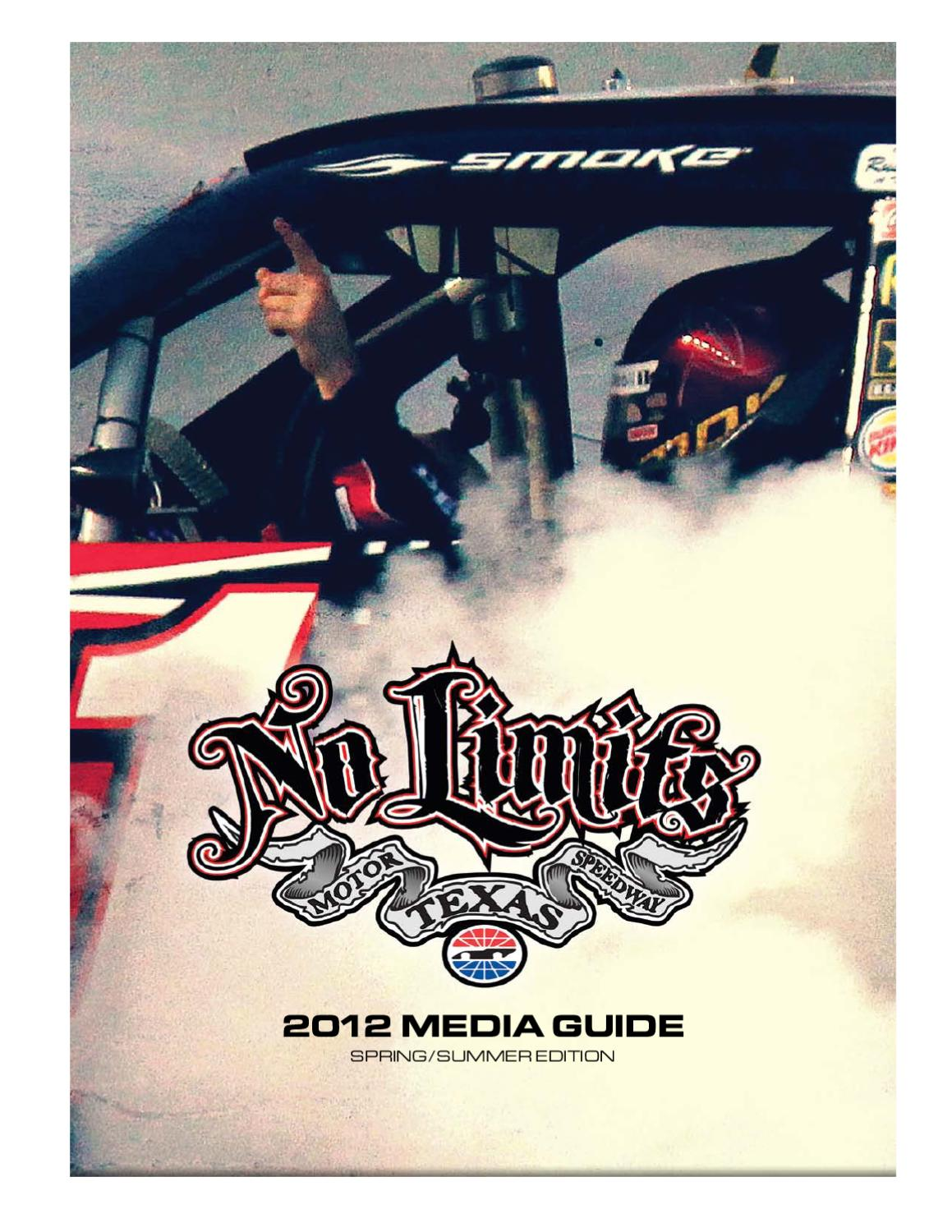 2012 Texas Motor Speedway Media Guide Spring Summer