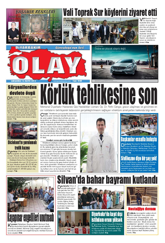 16 05 2012 Gazete Sayfalari By Diyarbakir Olaygazetesi Issuu