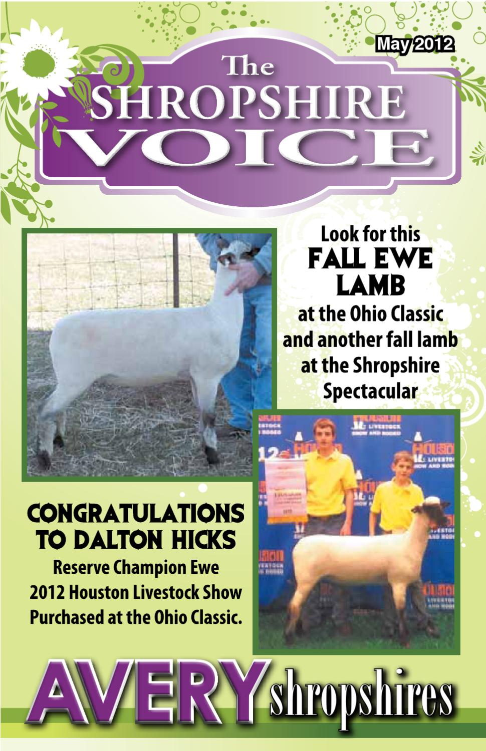 May 2012 Shropshire Voice by The Shropshire Voice - issuu