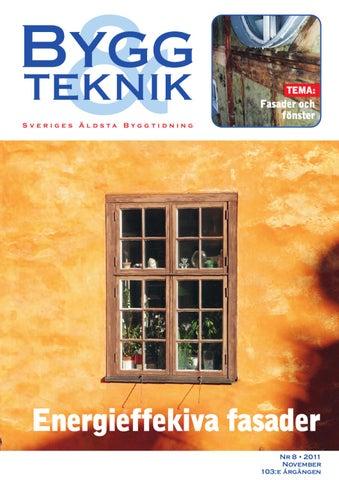 Page 1. TEMA  Sveriges Äldsta Byggtidning. Fasader och fönster 4c7a0ca37d619