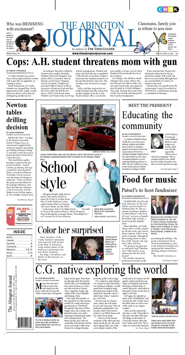 825406d8e7 The Abington Journal 05-16-2012 by The Wilkes-Barre Publishing Company -  issuu