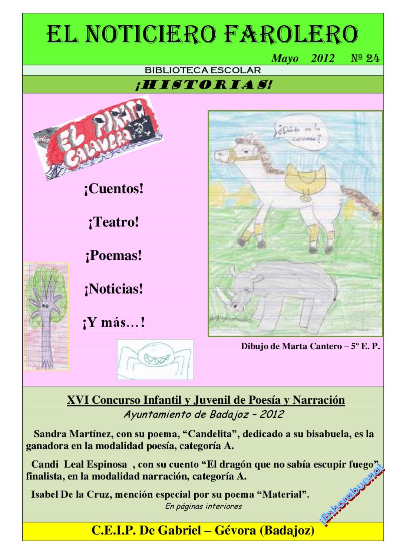 EL NOTICIERO FAROLERO N 24 by Biblioteca de Gvora Ceip De