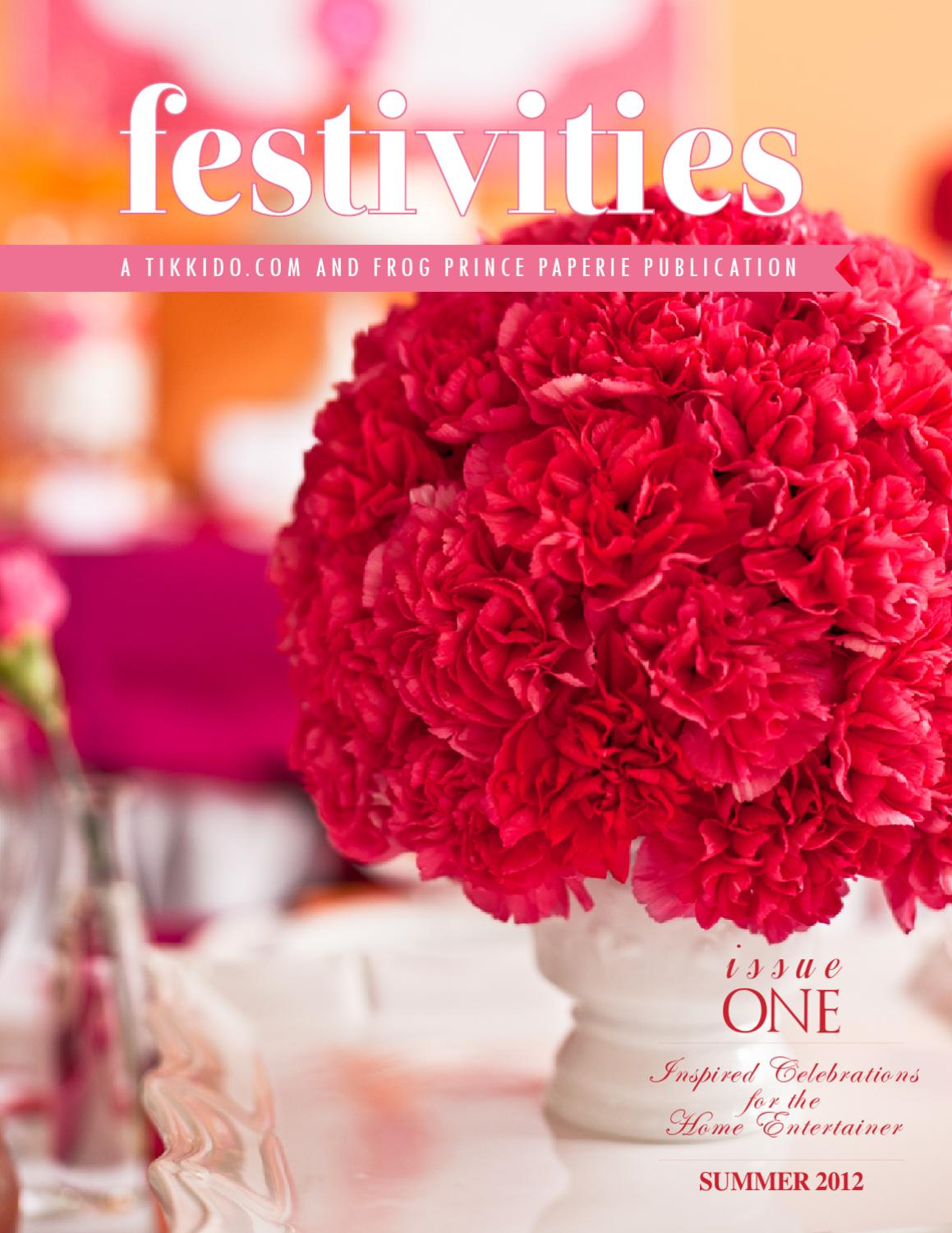 Festivities Magazine Summer 2012 by Frog Prince Paperie and Tikkido ...