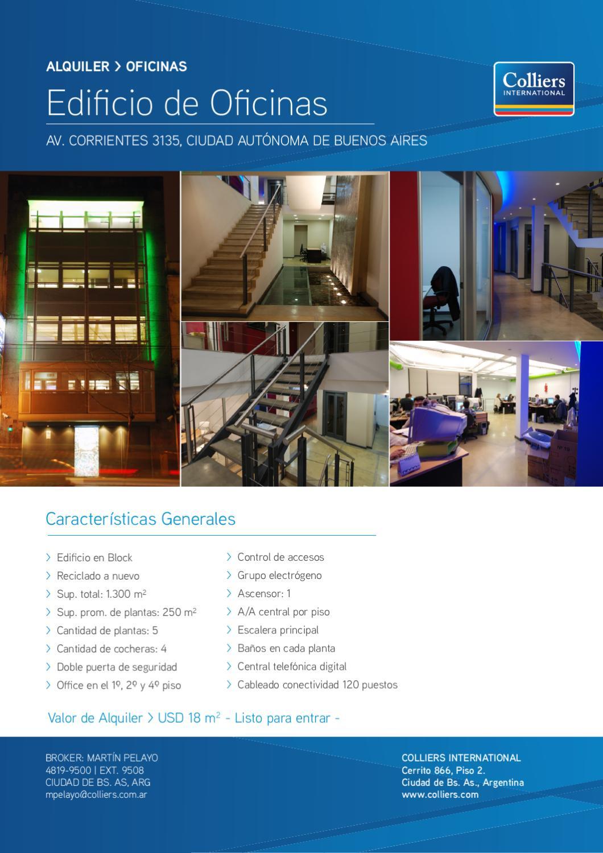 Edificio de oficinas corrientes 3135 by colliers for Oficinas pelayo