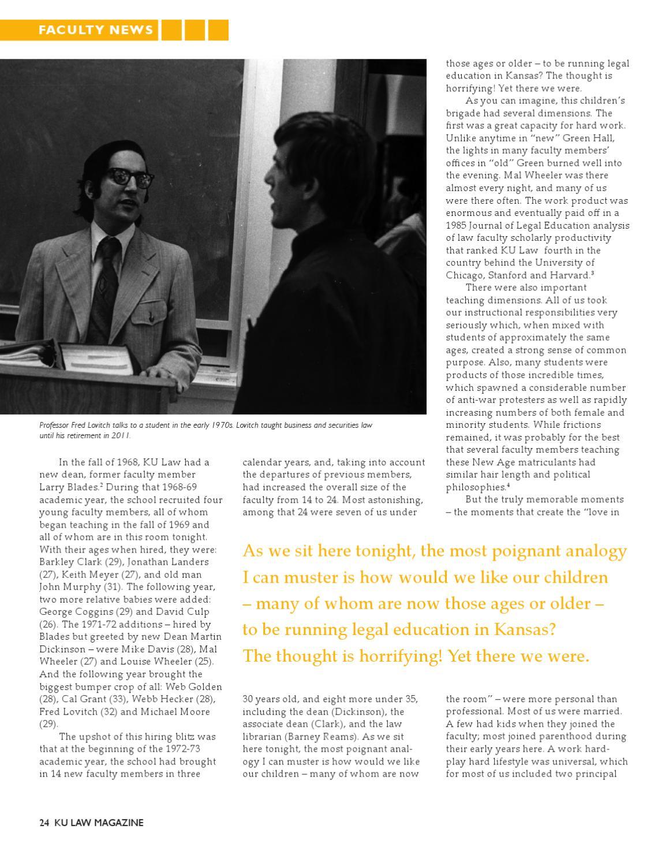 Ku Law Magazine Spring 2012 By University Of Kansas School Of Law Issuu