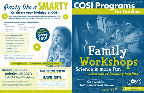 Cosi May September 2012 Programs For Families Catalog By Cosi Issuu