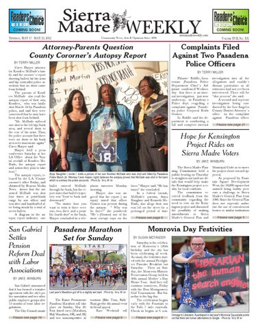 2012_05_17_Sierra Madre Weekly By Beacon Media, Inc.   Issuu