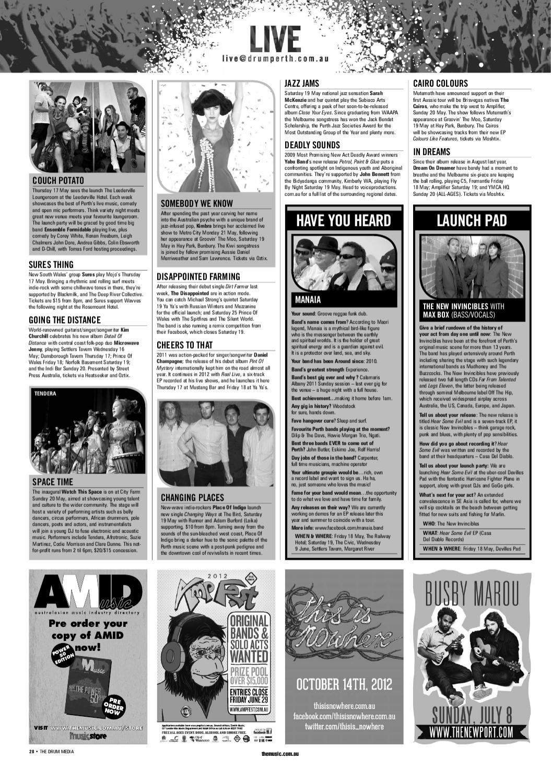 Drum Media Perth Issue #XXXX by TheMusic com au - issuu