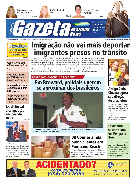 Edição 779 - De 17 a 23 de maio de 2012 by Gazeta Brazilian News - issuu e262d8f9b12