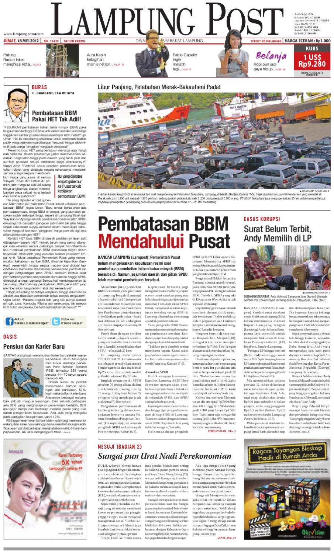 Lampung Post Edisijumat 18 Mei 2012 By Issuu Kopibubuk Robusta Toko Rezeki Akumandiri Malang