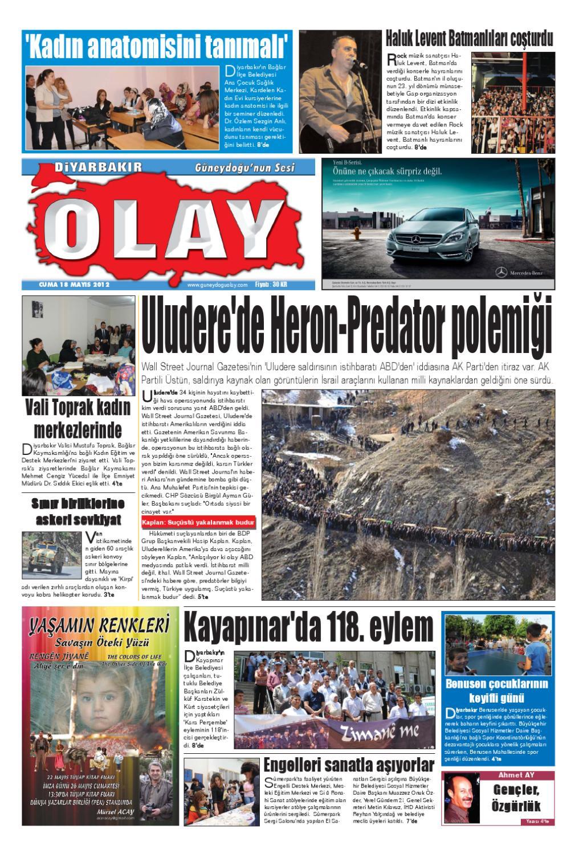 18 05 2012 Gazete Sayfalari By Diyarbakir Olaygazetesi Issuu