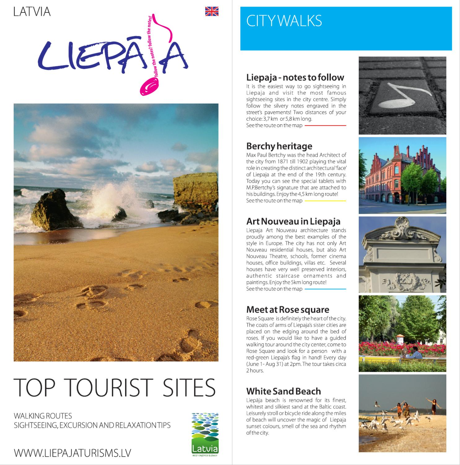 Booklet TOP Tourist sites Liepja by Liepaja Region Tourism