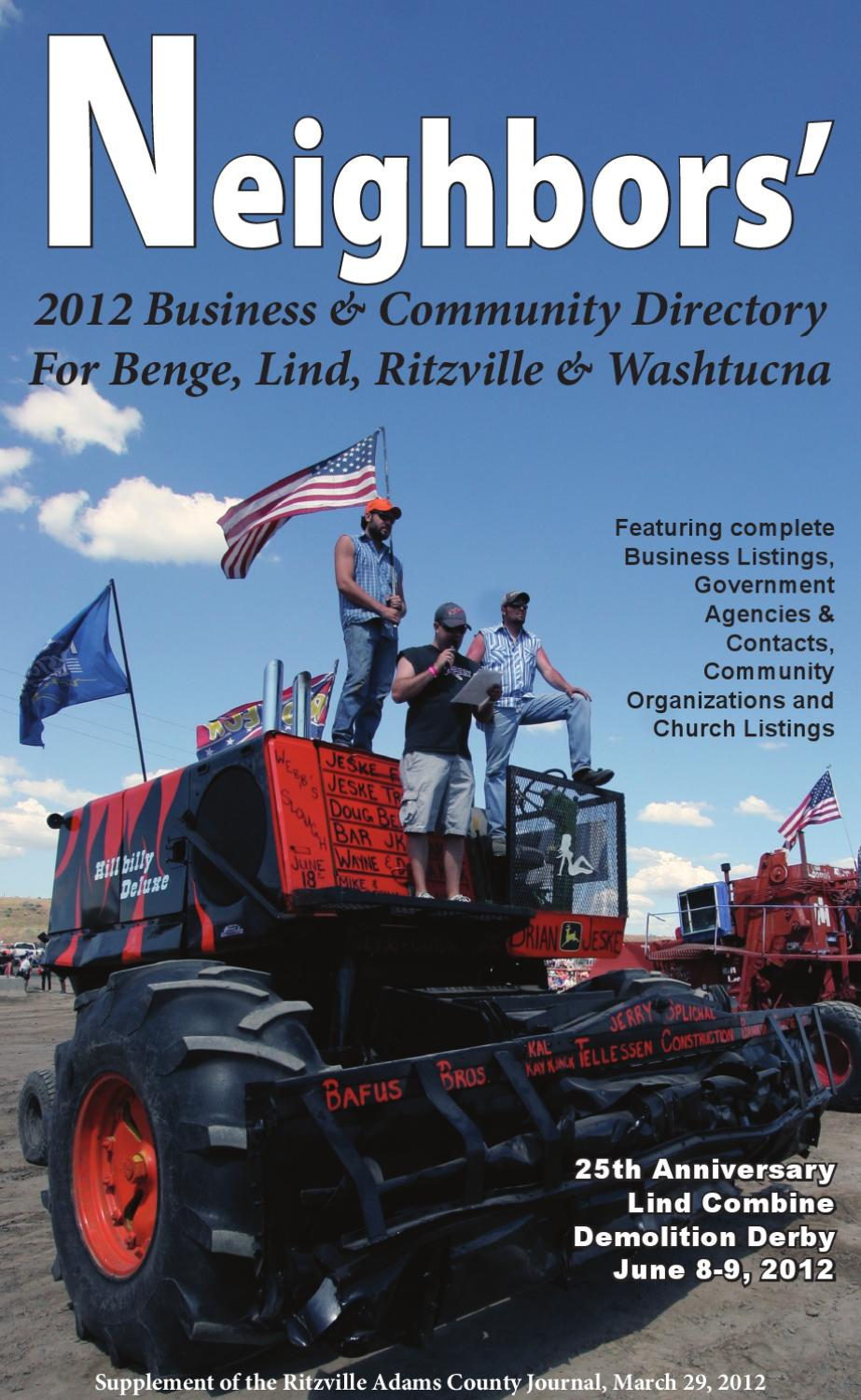 2012 Neighbors Directory By Ritzville Journal Issuu
