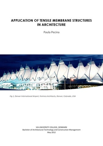 Application Of Tensile Membrane Structures In Architecture Research Paper By Paula