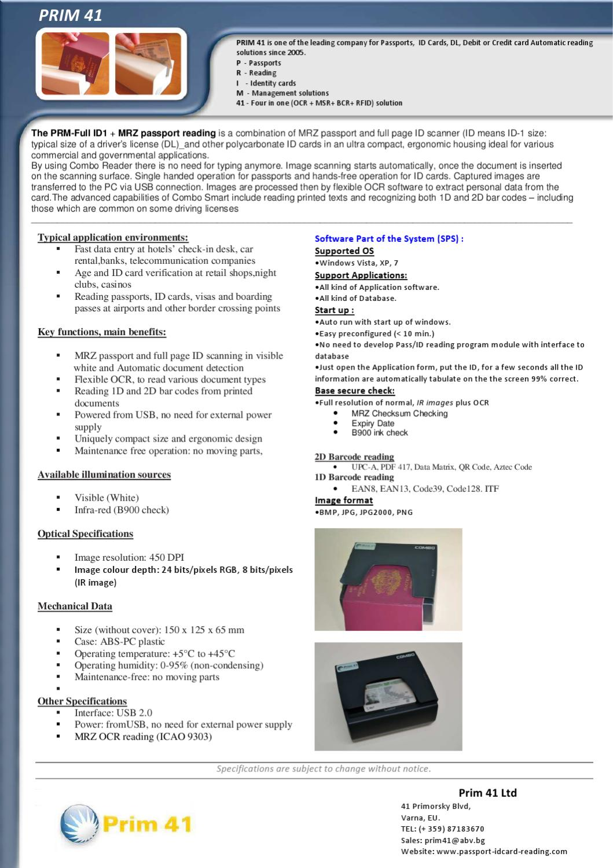Hotel Passport ID card reading by Prim 41 Ltd - issuu