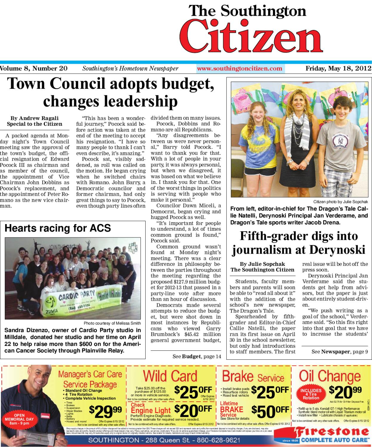 5 18 2012 Southington Citizen By Dan Champagne Issuu