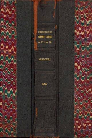 1915 Proceedings - Grand Lodge of Missouri 678211451e821