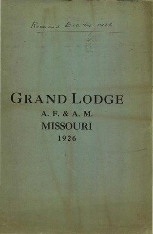 1926 proceedings grand lodge of missouri volume 2 appendixes by rh issuu com