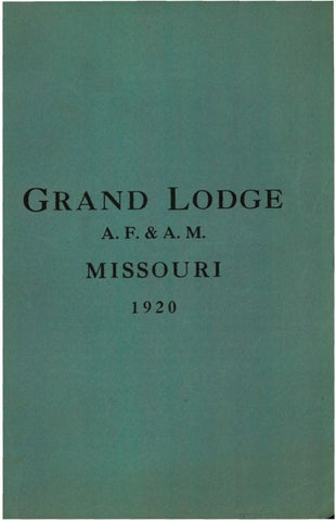 1891 Proceedings - Grand Lodge of Missouri by Missouri Freemasons