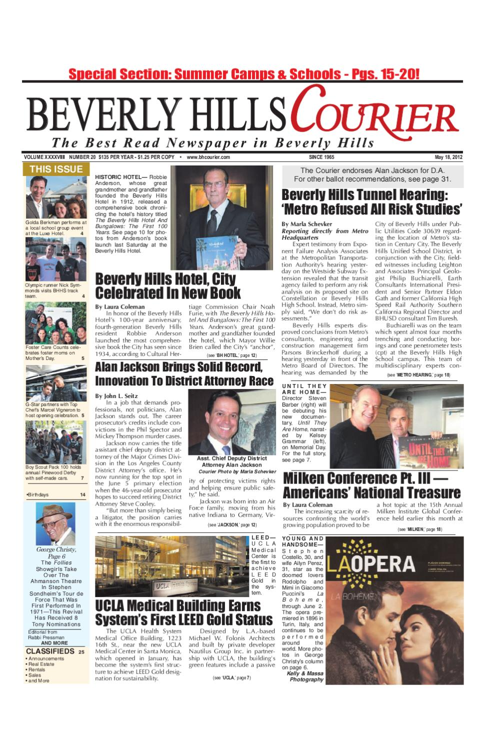 BH Courier 05-18-2012 Edition by The Beverly Hills Courier - issuu