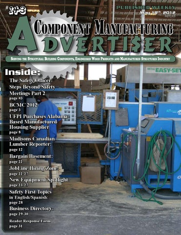 bd685ddfd33 May 18th 2012 Advertiser by Component Manufacturing Advertiser - issuu