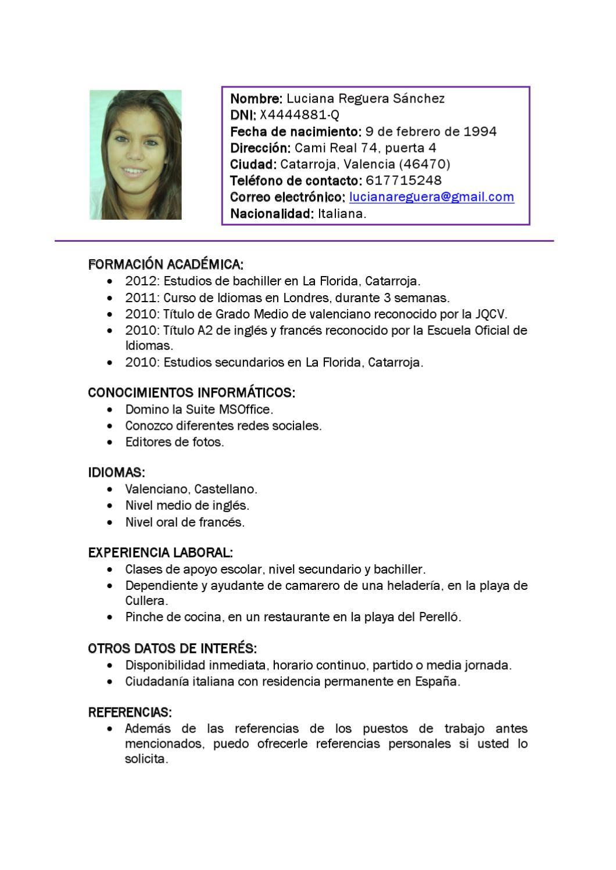 Luciana Reguera, CV by Candela Luciana - issuu