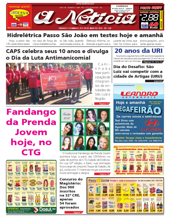 aa15cc917 Edição de 19 e 20 de maio de 2012 by Jornal A Notícia - issuu