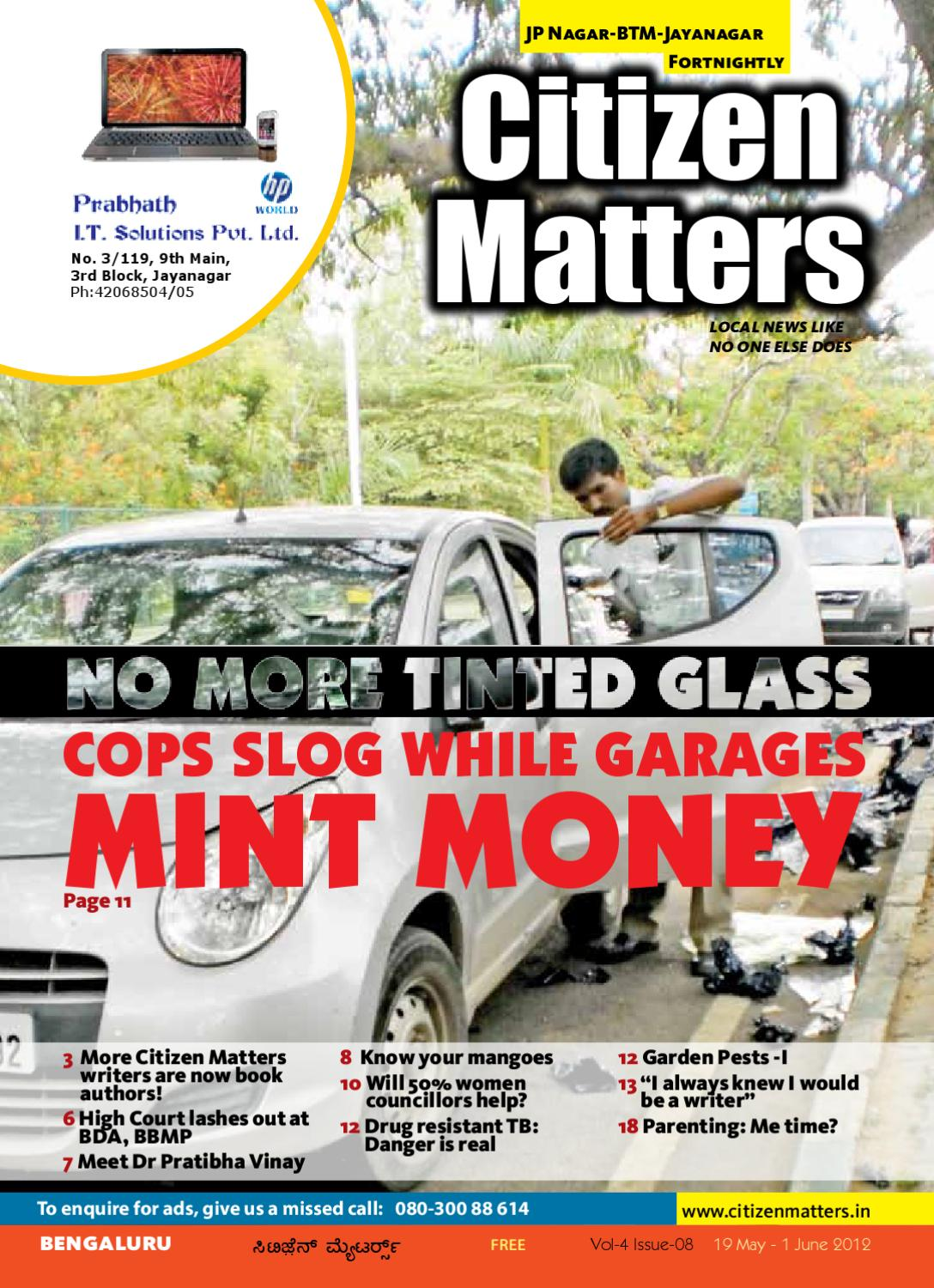 28d12198d citizen matters 19may2012 jpnagar edition by Oorvani Media - issuu