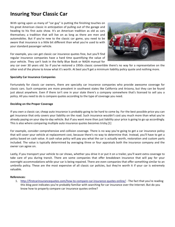 Insuring Your Classic Car By Samuel Thornton Issuu