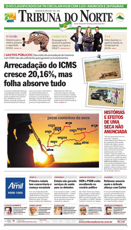 6452b572658 Tribuna do Norte - 20 05 2012 by Empresa Jornalística Tribuna do Norte Ltda  - issuu