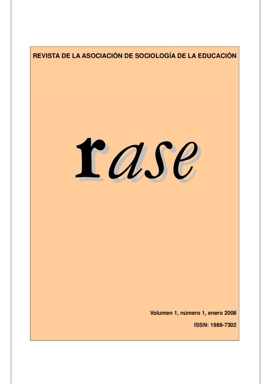 RASE Volumen 1, número 1, Enero 2008 by RASE - issuu