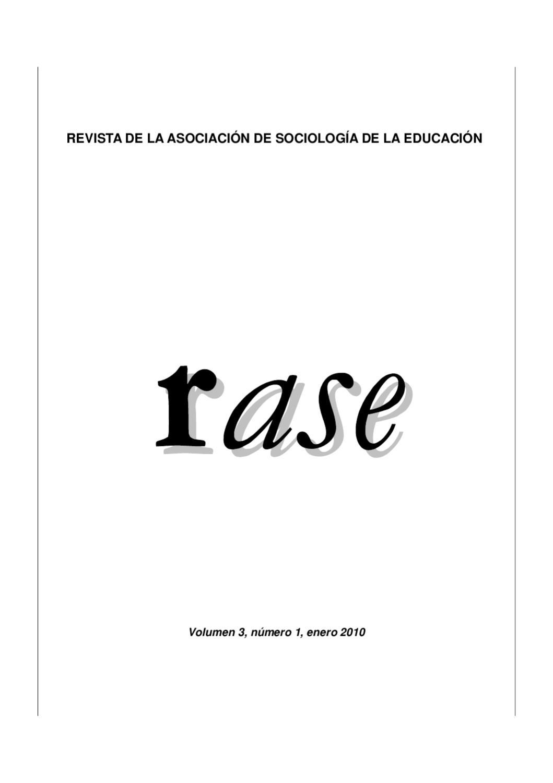 RASE Volumen 3, número 1, Enero 2010 by RASE - issuu