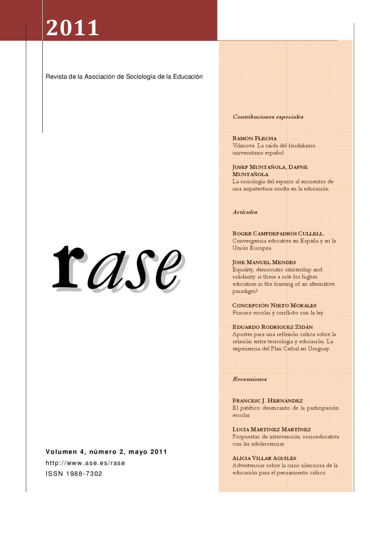 RASE Volúmen 4, número 2, Mayo 2011 by RASE - issuu