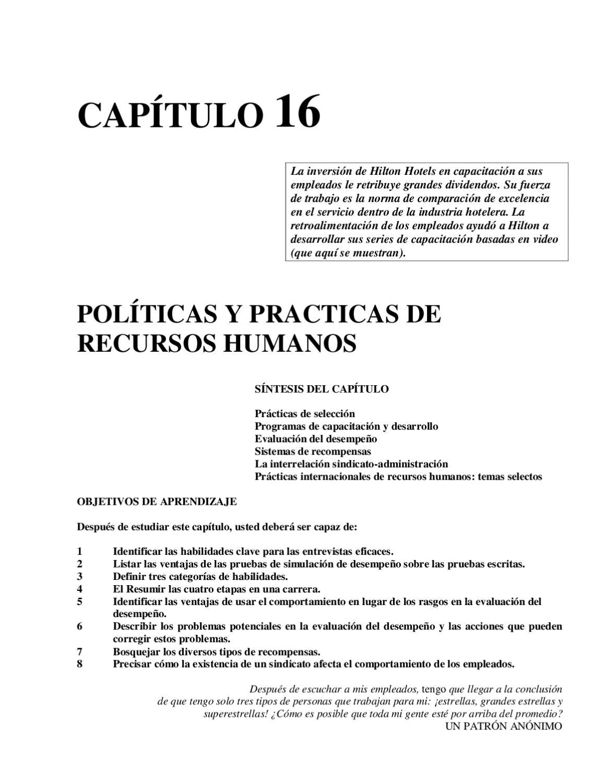 Políticas y Prácticas de RRHH by Luis Martinez - issuu