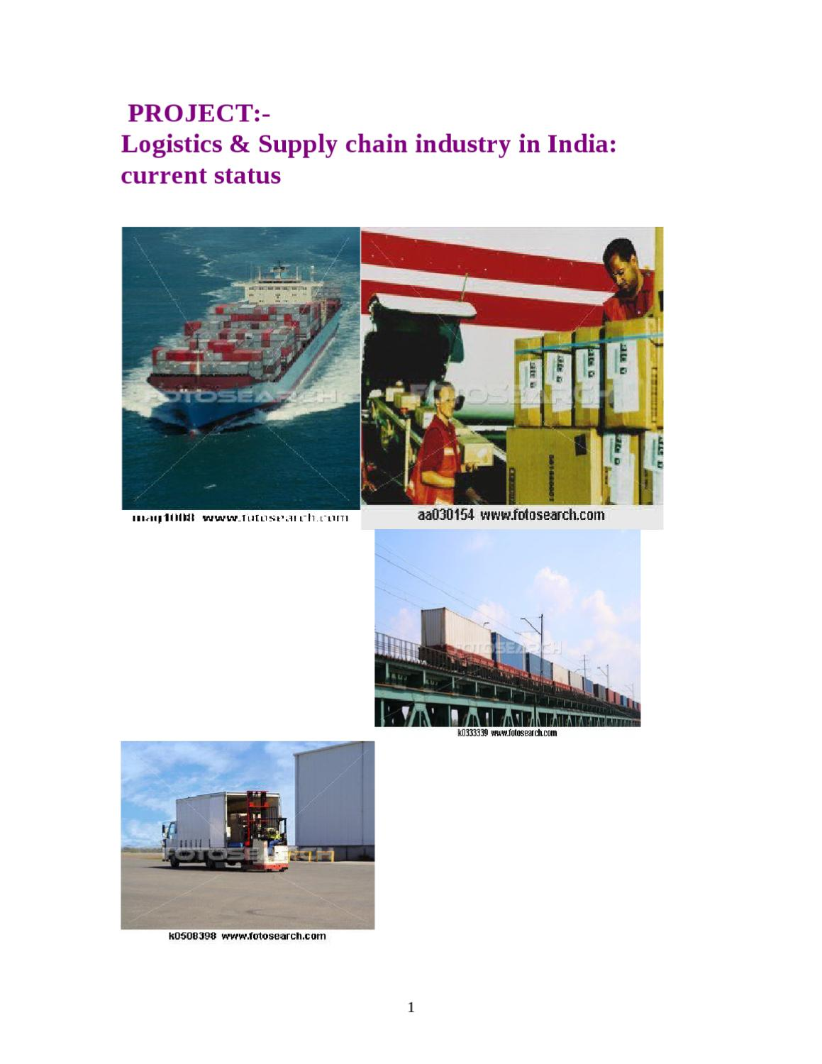 Logistics business plan in india