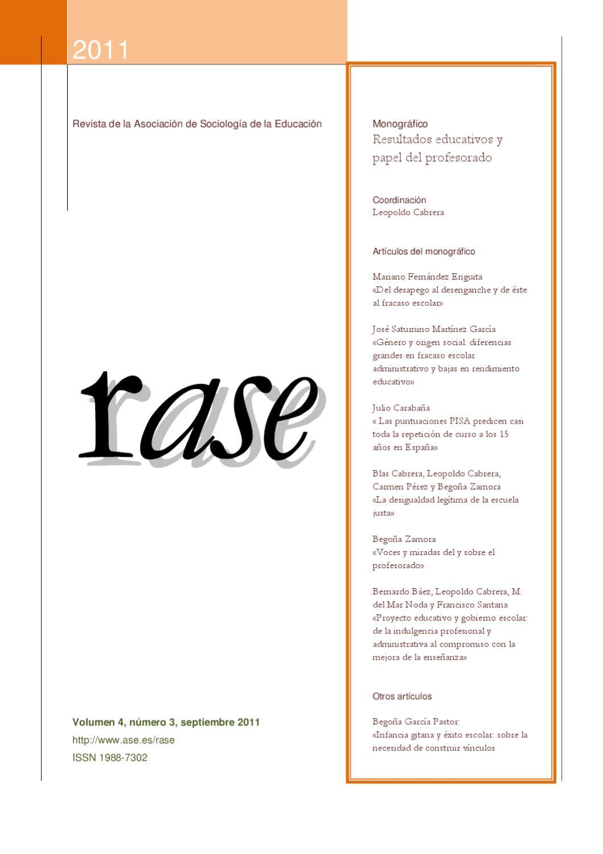 RASE Volúmen 4, número 3, Septiembre 2011 by RASE - issuu