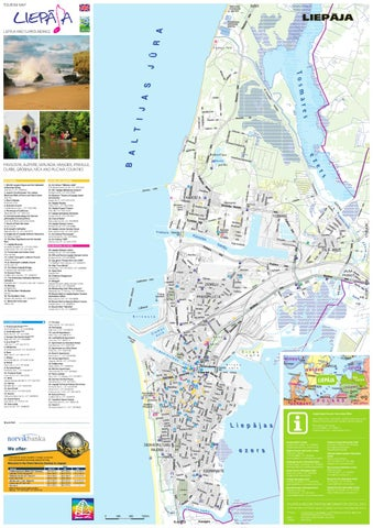 Tourism map Liepja and surroundings by Liepaja Region Tourism