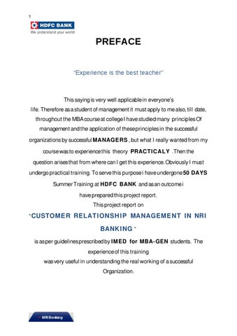 Hdfc bank project on crm by sanjay gupta issuu customer relationship management in nri banking hdfc yadclub Choice Image