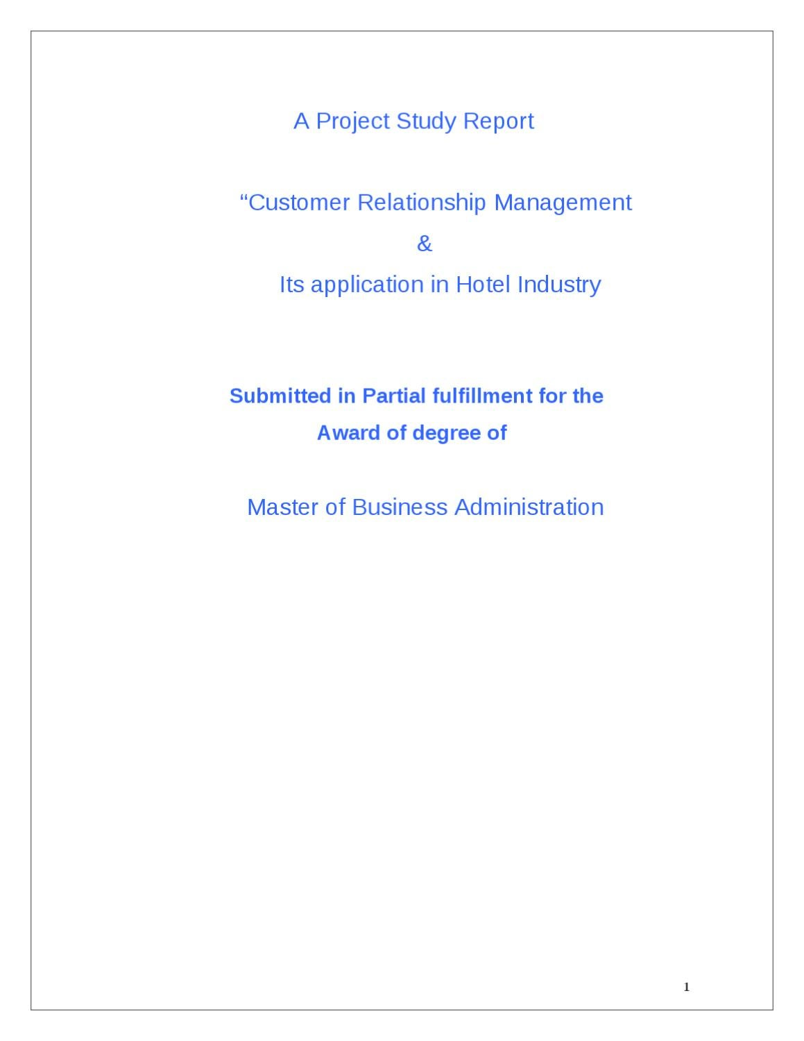 customer relationship management report Customer relationship management-research report case study help, case study solution & analysis & customer relationship management-research report case solution introduction: customer relationship management is a wider term that is used to describe the.