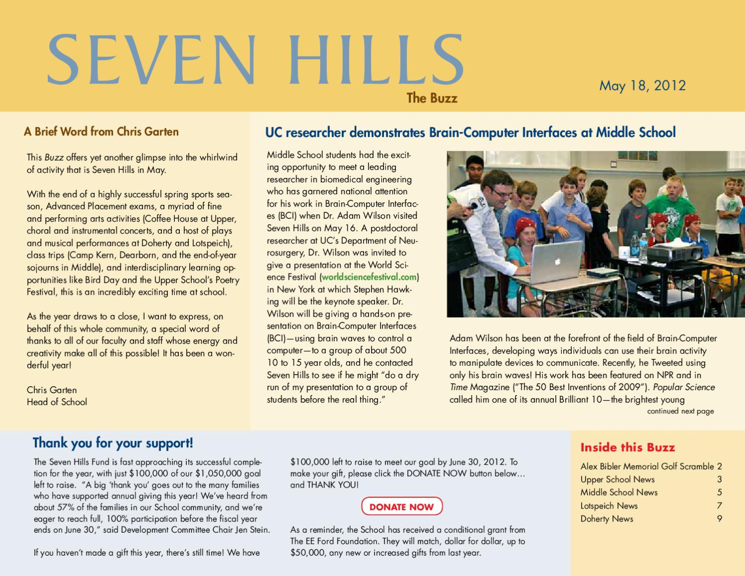 The Seven Hills Buzz by The Seven Hills School - issuu