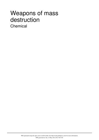 weapons of mass destriction chemical by keyvan amini issuu