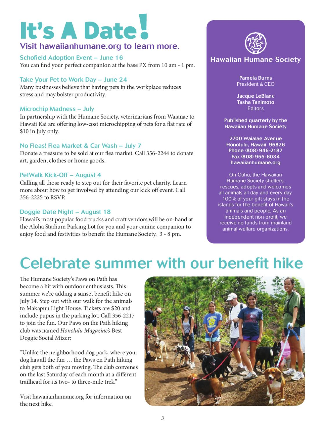 Summer Newsletter 2012 (June - Aug '12) by Hawaiian Humane - issuu