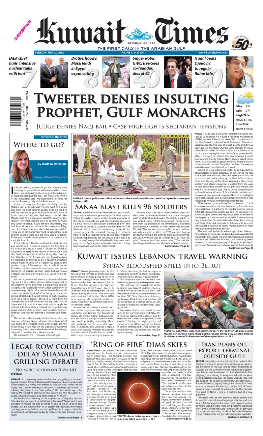 22nd May 2012 By Kuwait Times Issuu