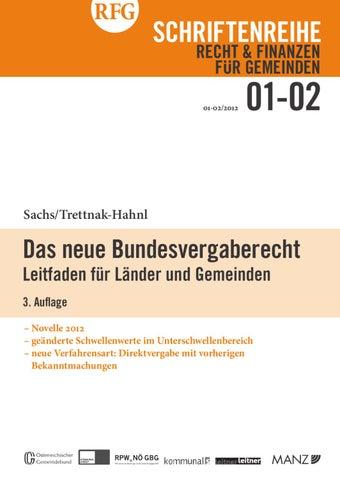 RFG 1,2-2011 - Das neue Bundesvergabegesetz (PDF; 5 MB) by ...
