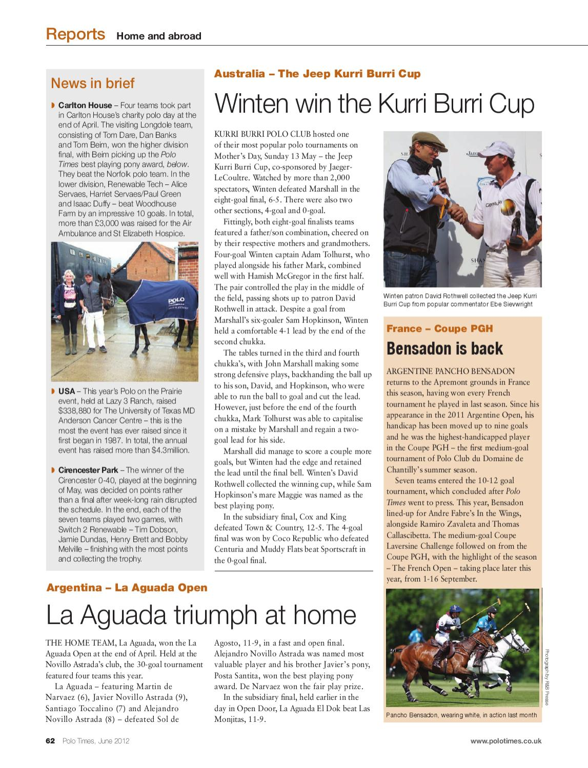 polo times june 2012edit - issuu