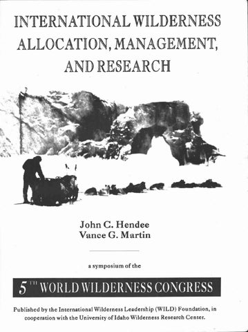 250c305b15c International Wilderness Allocation Management and Research by WILD ...