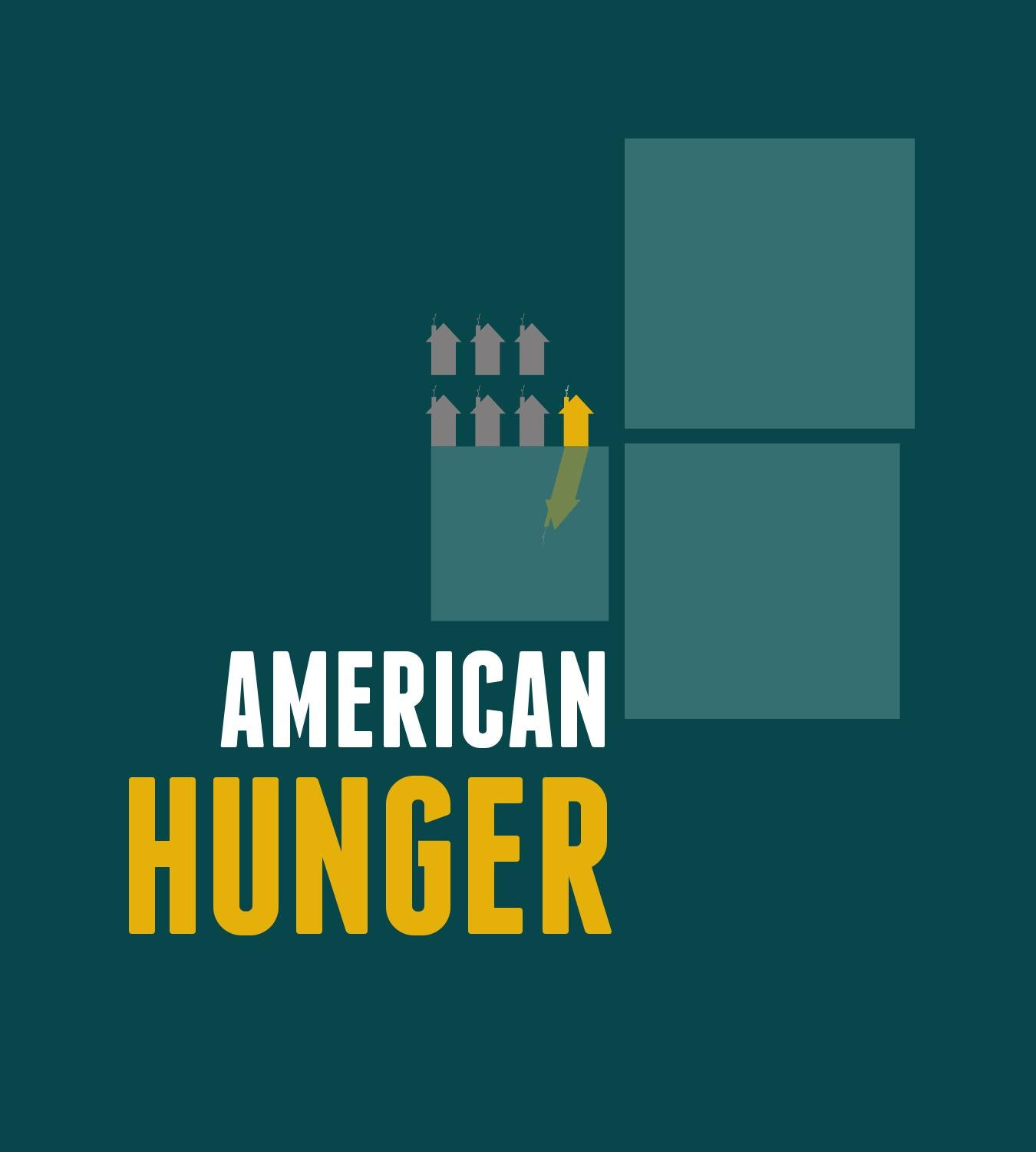 american hunger 1 in 6 people in america face hunger the usda defines food insecurity as the lack of access, at times, to enough food for all household members in 2011, households with children reported a significantly higher food insecurity rate than households without children: 206% vs 122.
