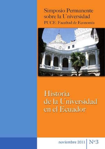 Simposio n.º3: Historia de la universidad en el Ecuador. Fac ...